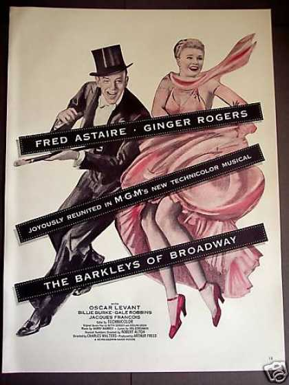 Fred Astaire Ginger Rogers Musical Movie Promo (1949)