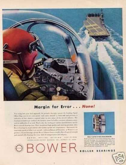 "Bower Roller Bearings Ad ""Margin for Error... (1957)"