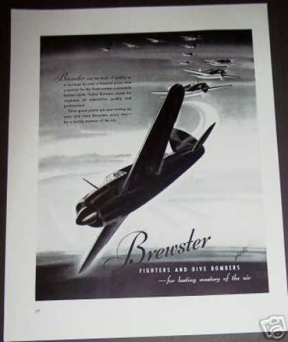 Brewster Dive Bomber Fighter Plane Airplane (1940)
