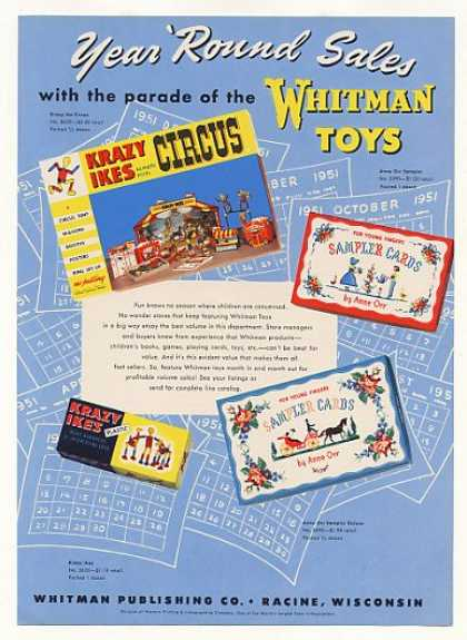 Whitman Krazy Ikes Circus Anne Orr Sampler Toys (1951)