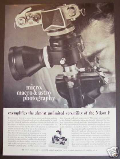 Original Nikon F Camera Micro Astro Photography (1961)