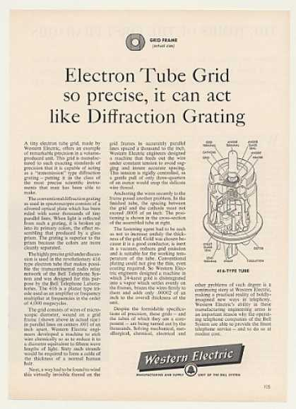 Western Electric Electron Tube Grid (1957)
