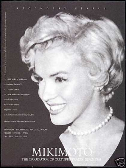Mikimoto Pearls Marilyn Monroe Photo (1999)