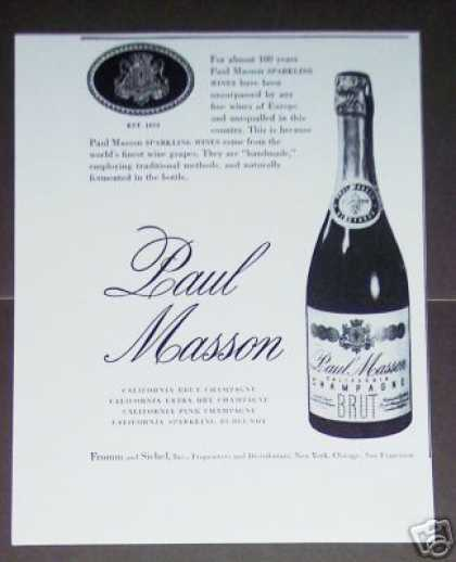 Paul Masson California Champagne (1947)