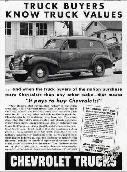 """It Pays To Buy Chevrolets"" Antique Trucks (1940)"