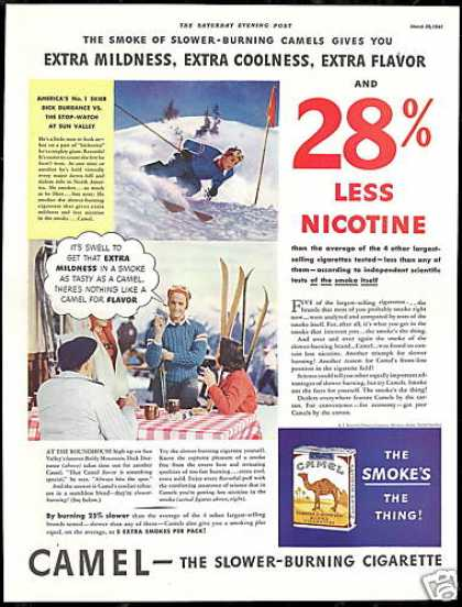Sun Valley Dick Durrance Ski Camel Cigarette (1941)