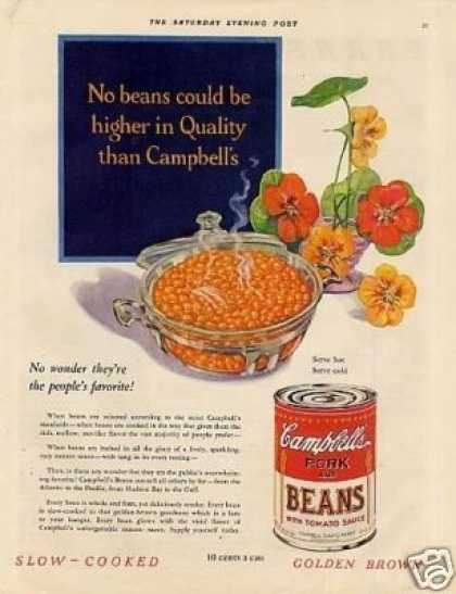 Campbell&#8217;s Pork and Beans Color (1931)