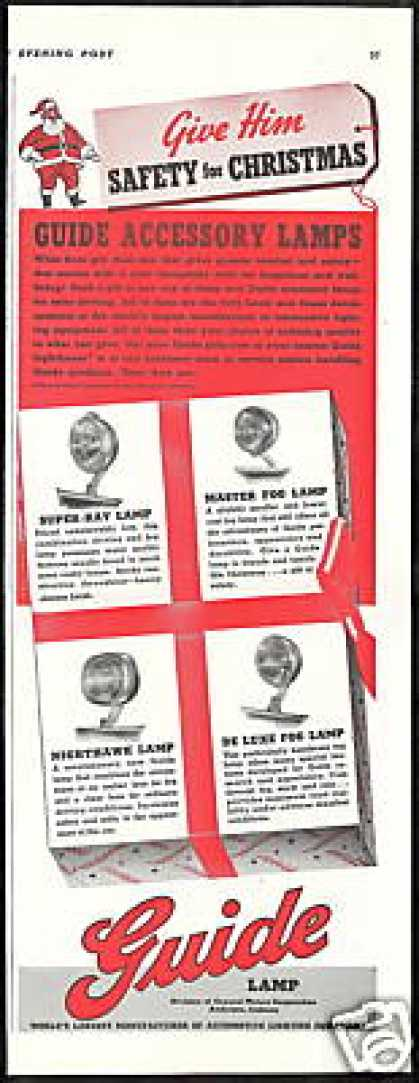 Assorted Guide Lamp Car Lights Photo Vintage (1940)