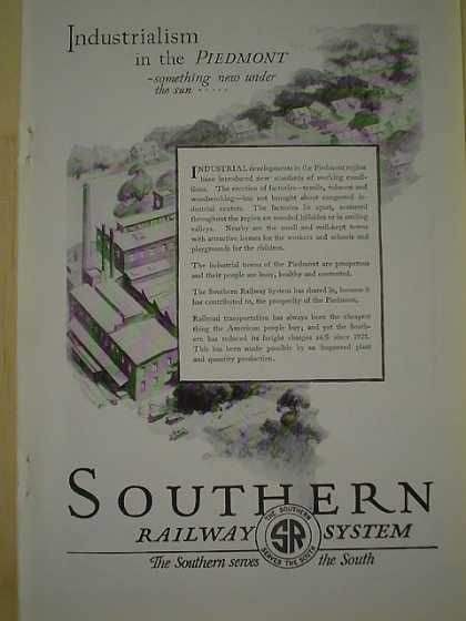Southern Railway System Industrialism in the Piedmont (1926)