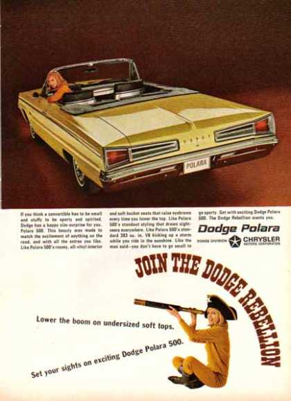 Dodge Car – Dodge Polara Convertible – Gold (1966)