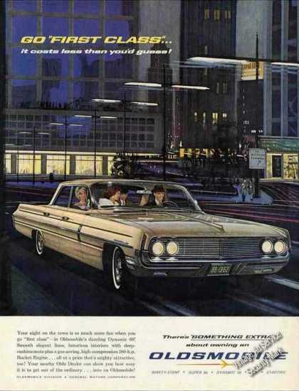 Oldsmobile 88 Beautiful Car Ad Nice Art (1962)