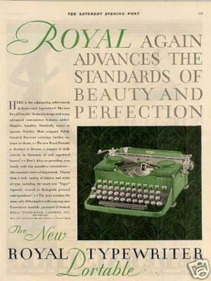 Royal Portable Typewriter Color (1930)