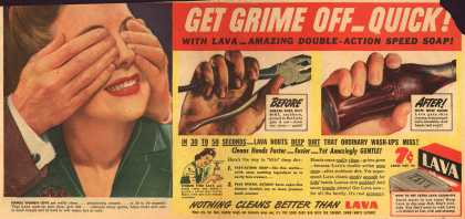 Procter & Gamble Co.'s Lava Soap – Get Grime Off – Quick (1944)
