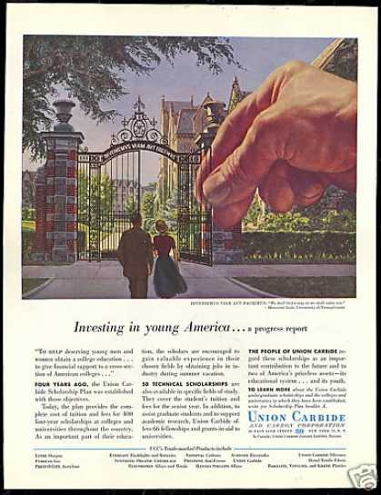Pennsylvania University Mem Gate Union Carbide (1956)