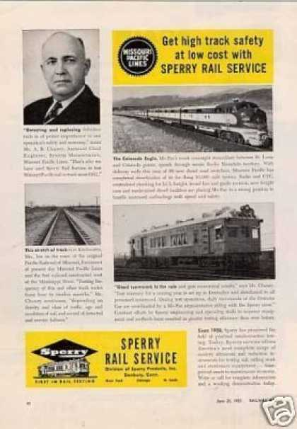 Sperry Rail Ad Missouri Pacific Rr/sperry Car #134 (1955)