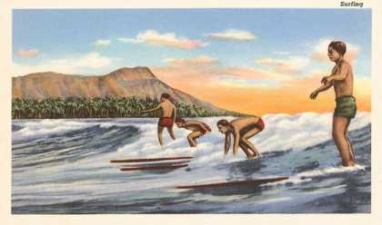Surfing Off Diamond Head