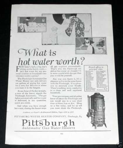 Pittsburgh Gas Water Heaters (1919)