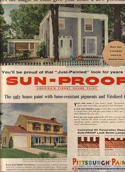 Pittsburgh Paint's Sun-Proof House Paint (1957)