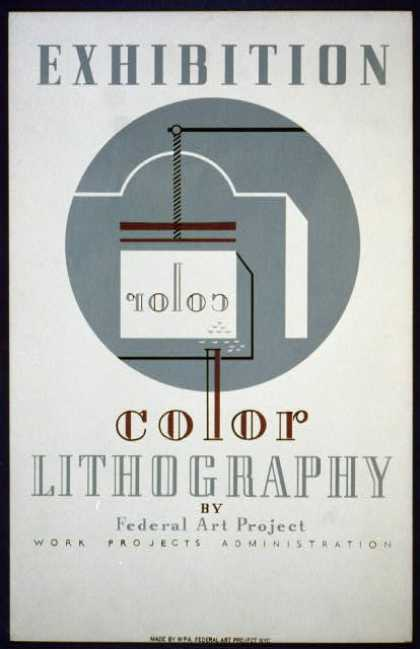 Exhibition color lithography by Federal Art Project Work Projects Administration. (1936)