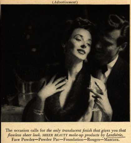 Lentheric's Sheer Beauty make-up – The occasion calls... (1951)