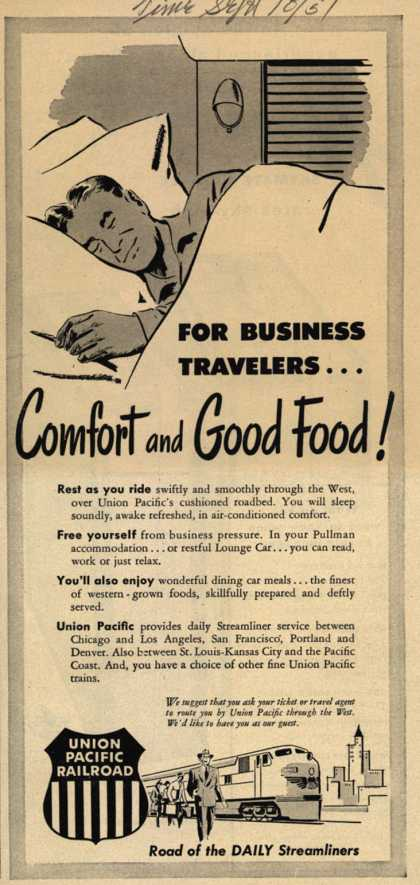 Union Pacific Railroad's Business Travel – For Business Travelers...Comfort and Good Food (1951)