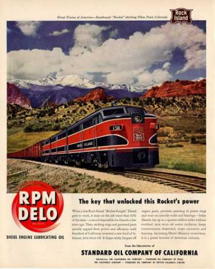 Rpm Delo Rock Island Train Pikes Peak Colorado (1950)