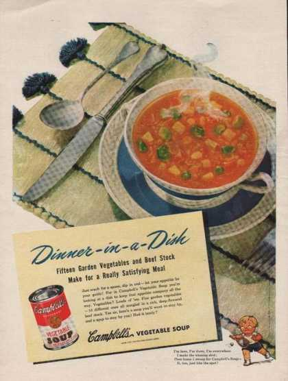 Campbells Bowl of Vegetable Soup (1946)