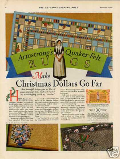 Armstrong's Quaker-felt Rugs Color (1927)