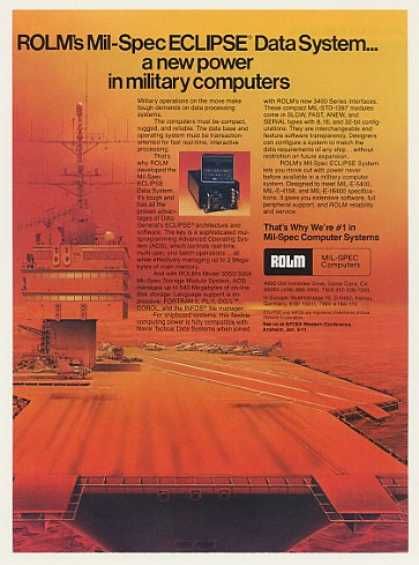 '79 Rolm Eclipse Data System Military Computer (1979)