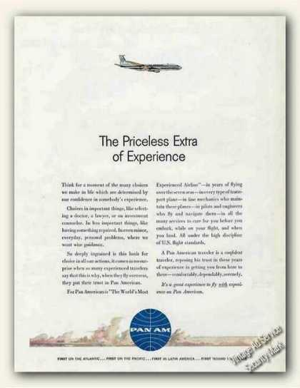Pan Am the Priceless Extra of Experience (1961)