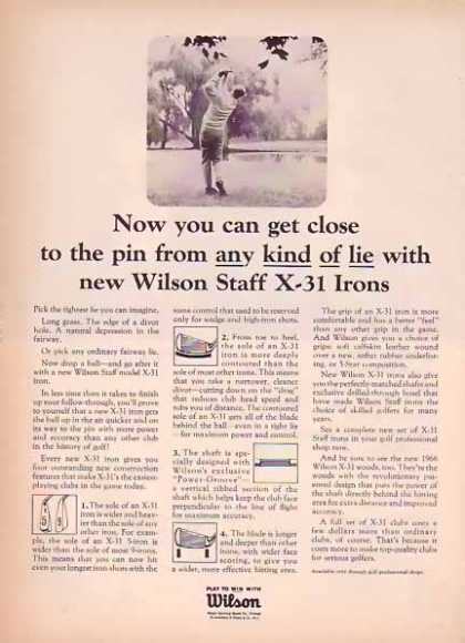 Wilson Staff X-31 Irons – Golf (1966)