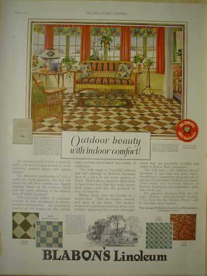 Blabon's Linoleum AND Lloyd Furniture Baby Carriages (1926)