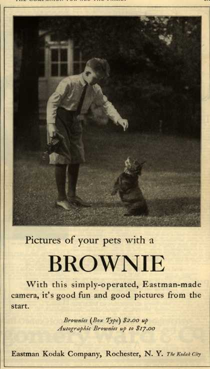 Kodak's Brownie cameras – Pictures of your pets with a BROWNIE (1922)