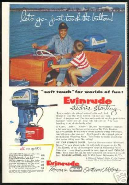 Evinrude Outboard Boat Motor Twin Electric (1955)