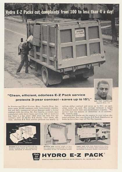 Capello Bros Hydro E-Z Pack Garbage Truck (1960)