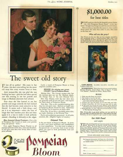 Pompeian Bloom's rouge – The sweet old story (1925)