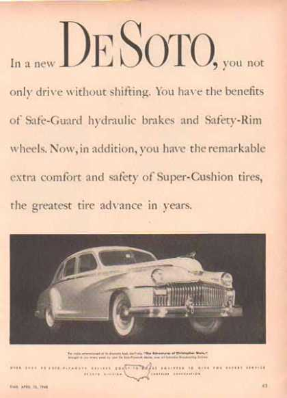 Plymouth Desoto Car – Full View – White (1948)