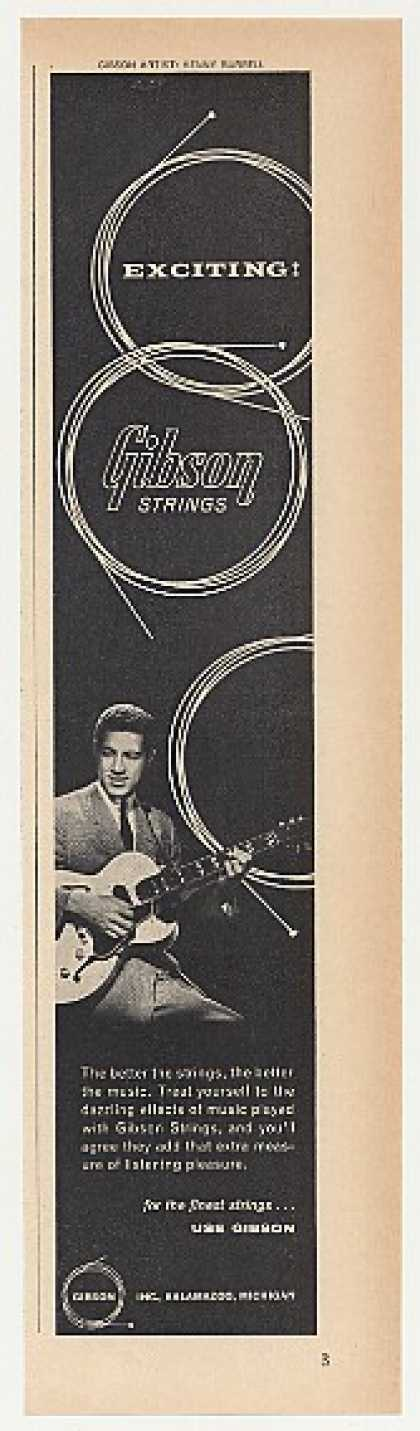 Kenny Burrell Gibson Guitar Strings Photo (1964)