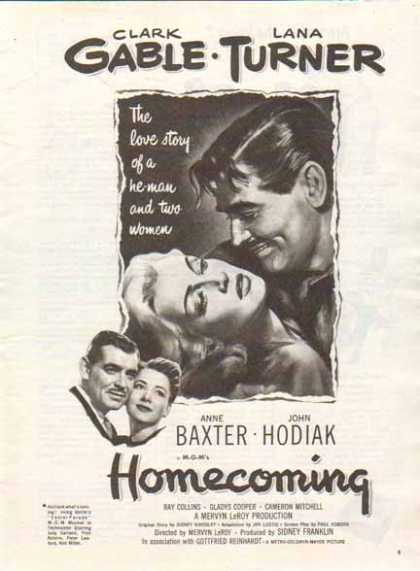 Homecoming Movie – MGM's – Clark Gable Lana Turner (1948)