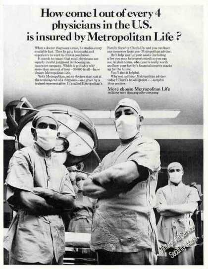 1 Out of 4 Physicians Insured Metropolitan Life (1966)
