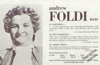 Andrew Foldi Photo Concert & Oratorio Trade (1967)