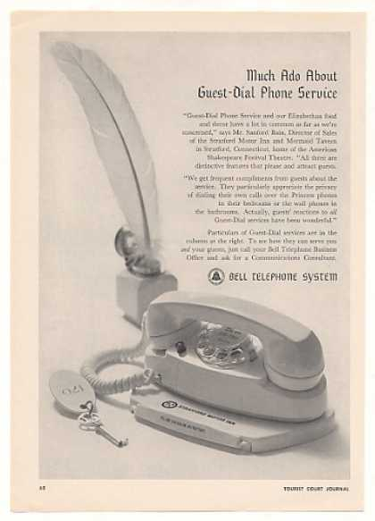 Bell Telephone Hotel Guest Dial Phone Service (1964)