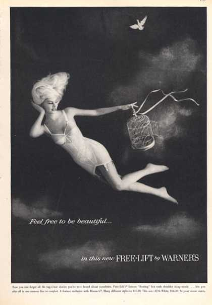 Warner's Free Lift Girdle Ad Pretty Lady Bird (1960)