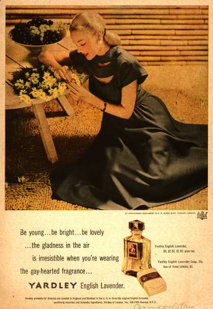 Yardley of London's English Lavender Cosmetics – Be young...be bright...be lovely... (1947)