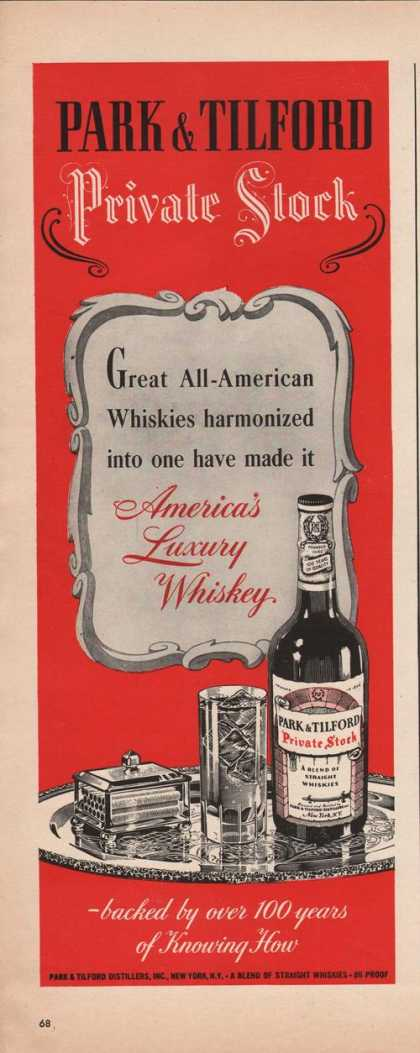 Park & Tilford Straight Whiskies (1942)