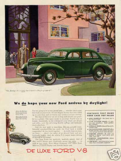 "Ford Car Color Ad ""We Do Hope Your... (1939)"