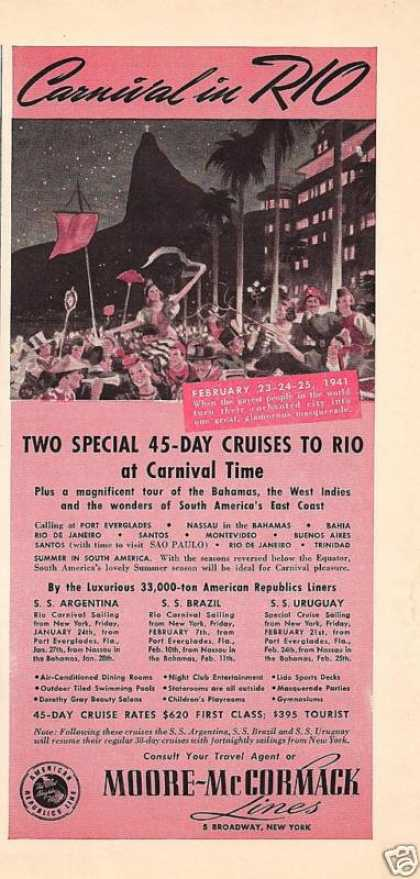 Carnival In Rio Cruises Ship Liner (1940)