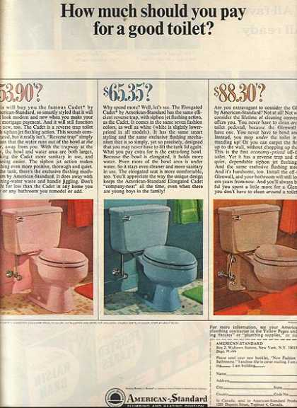"""American-Standard's """"How much should you pay for a good toilet?"""" (1964)"""