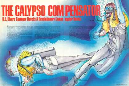 Us Divers Calypso Compensator Device Print Article (1977)