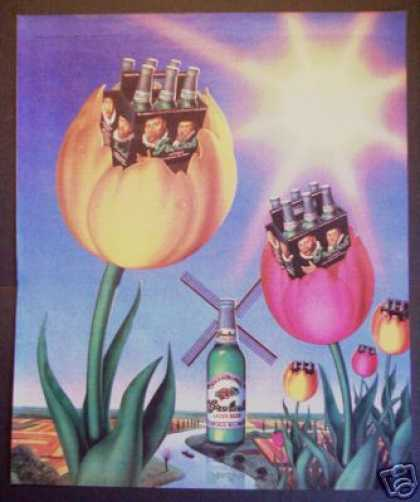 Grolsche Beer Tulips Windmill Fantasy Art (1983)